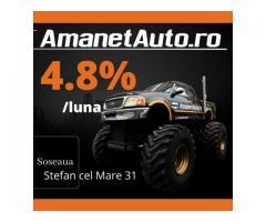 Oferta Amanet Auto 4,8% pe luna